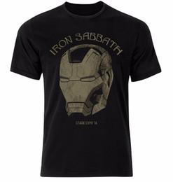 2019 camisas sabáticas negras Iron Sabbath Iron Man Black Sabbath Cruce sobre la camiseta negra unisex 100% algodón Camisetas de manga corta con cuello en O Camisetas camisas sabáticas negras baratos