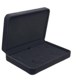 Caixas de presente cinza jóias on-line-17x12x3.5 cm caixa de presente de jóias de veludo conjunto de colar para jewerly definir armazenamento de exibição frete grátis mais cor para a escolha cinza escuro