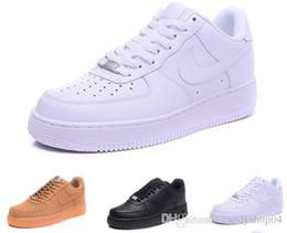 Senhoras ar on-line-nike air force 1 De alta qualidade mais recente moda masculina low-top branco forçado sapatos senhoras negras como neutro high-top um sapatos casuais