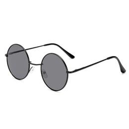 2019 gafas mezcla de color Diseñador de lujo de las mujeres gafas de sol de los hombres de marca de moda color de la mezcla gafas de sol retro marco redondo de calidad superior gafas protección UV gafas mezcla de color baratos