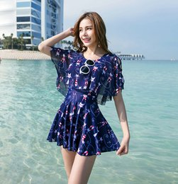 0855ca6aef81 Women Swimming Suit Hot Spring Sexy One-Piece Swimsuit Plus Size Skirt Style  Swimwear Summer Holiday Bathing Suit