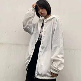 2019 veste en gros de peplum féminin 2019 Nouvelle Arrivée Designer Vêtements Mode Homme Protection du Soleil Manteau Couple populaire Coupe-Vent Veste Taille M-XL 0673