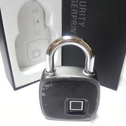 Sacchetti intelligenti online-New Smart Fingerprint Lock Lucchetto di sicurezza portatile Impermeabile antifurto Lucchetto per la borsa da golf Valigia Palestra Armadio Armadio Cassetto Porta 1 pz