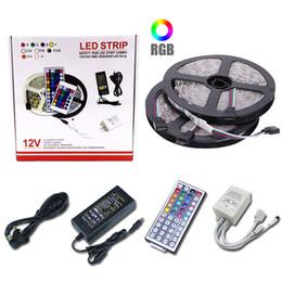 DIY LED Şerit 5050 RGB Su Geçirmez DC 12 V LED Işık Şeritleri Esnek Bant TV Arkaplan Işık Için Uzaktan ekle 5 M 10 M nereden