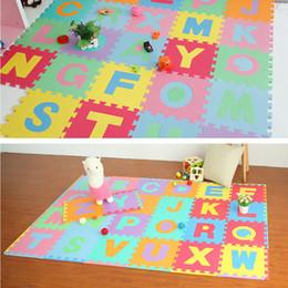 2019 eva puzzle matten 36 stücke GROßE Alphabet Zahlen EVA Boden Spielmatte Babyraum Puzzle ABC schaum Puzzle 15,5 * 15,5 cm rabatt eva puzzle matten