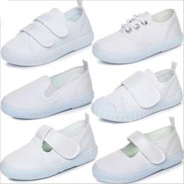 bc382d49 Zapatos de bebé Zapatos de lona para niños Mocasines casuales blancos  Zapatillas de deporte del verano del niño Zapatillas de deporte de suela  suave ...