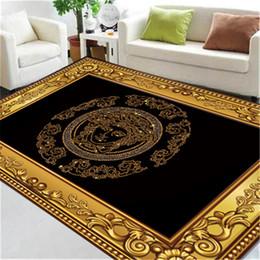 2020 impresión de alfombras personalizadas New Golden Edge Gorgeous Hotel Carpet Goddess Estampado de moda Alfombras Alfombras personalizadas para familias y hoteles impresión de alfombras personalizadas baratos