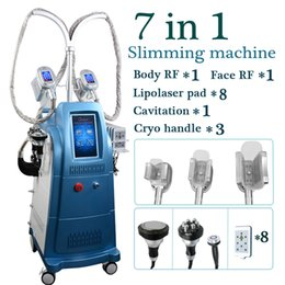 Macchine di cavitazione 3d online-macchina per crioterapia grasso congelato vuoto cavitazione rf 3d diverso cromo maniglia macchina radiofrequenza vuoto pelle sollevamento