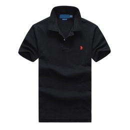 brand polos Coupons - Polo ralph t shirt lauren mens polos brand men luxury shirts men designer clothing t shirts Embroidery Pony mark top quality polos mens tees