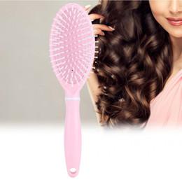 Pettini da parrucchiere rosa online-pettine per barba Spazzola per capelli rosa ABS Pettine per capelli Spazzola per massaggi per assistenza sanitaria Spazzola per capelli Strumento per parrucchiere