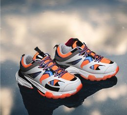 Calzado deportivo entrega gratis online-Paris Super Hot Shoes + 45 Leisure Men's Korean Port Sports Shoes Super Size 46 Fashion Men's Third Generation Entrega gratuita