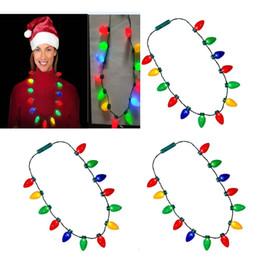 Lampadine luminose online-13 Lampadina LED Lampeggiante Collana Lampadine Torcia Luminosa Decorazioni natalizie Fascino Bomboniera Forniture regalo 100 pz NAVE DHL WX9-1577