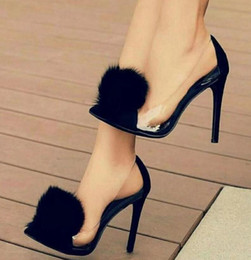 cac74457a9c2bf schuhe kaninchen fersen Rabatt Neue High-Heel 12CM in Europa und Amerika  Schuh Frau transparent