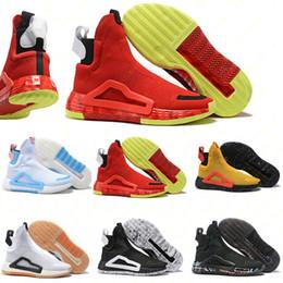 Sapatos de malha originais on-line-2019 Donovan Mitchell sapatos para homens tênis de basquete original Adidas Mitchell n3xt l3v3l Zach LaVine nuvem preta branco prime sapatos de malha tamanho 40-46