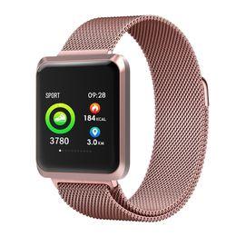 magnetische sportarmbänder Rabatt NB-212 Smart Watch IP67 Wasserdichte BT Bands Sport Armband Magnetische Armbanduhr Schlaf Monitor Blutdruck SpO2 Test Stoppuhr