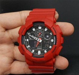 mens military army watch Promo Codes - Fahion Style Sport Watches Mens Luxury G Style Shock Student Outdoor Waterproof Watch Rubber Military Army Wholesale Quartz LED Wristwatches