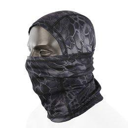 maschere di caccia Sconti Tactical Helmet Outdoor respirazione antipolvere Balaclava Maschera Camouflage Hat Airsoft Caccia Ciclismo Moto Berretti cappuccio della protezione completa