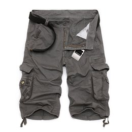 Mens Carga Shorts 2019 Nova Marca de Camuflagem Do Exército Tático Shorts Men Cotton Solto Trabalho Calças Curtas Casuais Plus Size de