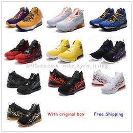 zapatos de kevin durant para niños Rebajas 2020 nuevos mens baratos LeBrons 17 XVII zapatillas de baloncesto EP venta retro 17s LeBron James MVP BHM Oreo zapatillas de deporte LBJ17 Deportes con la caja 7-12 ka