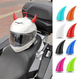 New Motorcycle Helmet Rubber Suction Cup Devil Horn Headwear Decoration  Beamy