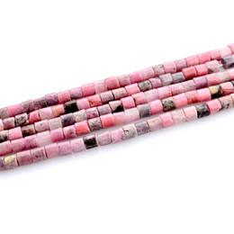 Canada En gros 4mm Cylindrique Rose Naturel Pierre Perles Bijoux Bracelet Collier Perles Pour La Fabrication de Bijoux Offre