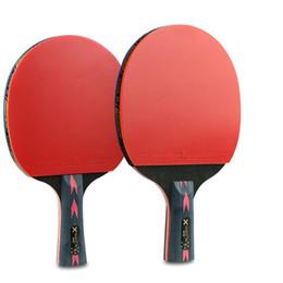 2019 toalhas de tênis de mesa Carbono Leve Poderoso Longo Curto Punho Horizontal Grip Table Sobre 208g Raquete De Tênis 7 0.1mm 5 Camadas