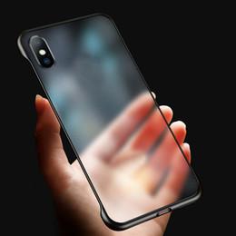 Tapis clair en Ligne-Ultra mince étui sans cadre pour iphone 11 pro max max pour iphone 6 7 8 plus x huawei compagnon 20 p30 pro étui transparent mat transparent