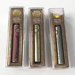 Batteria a tiraggio d'ottone 650mAh Batteria a preriscaldamento batteria in legno d'oro Variabile 510 Batterie a filo Penna a vapone per vaporizzatore a olio denso da cera penna vape all'ingrosso personalizzato fornitori