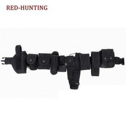Conjuntos de lanternas táticas on-line-Peças de 10 Peças Tudo em Um Conjunto Militar Da Cintura Tactical Belt Equipment Gun Coldre Lanterna Polícia Security Guard SWAT Utility # 119607