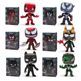 Filme de veneno on-line-Funko pop Venom Figura Boneca brinquedos 2019 New kids Vingadores Venom Dos Desenhos Animados figura Toy Figuras Do Filme