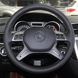 Комфортабельная Черная Синтетическая Замша Мягкая Прочная Песок Швейная Крышка рулевого колеса автомобиля для Mercedes Benz GLCS 200L300 E260L400CLA от