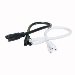 Doubles cordes en Ligne-Rallonge LED, câble de connexion de lampe LED, câble de connecteur à extrémité double pour appareil d'éclairage à tube LED intégré T5 T8, connecteur de commutateur fil