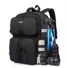 Multifuncional DSLR SLR Mochila para cámara Gran espacio Accesorios de fotografía a prueba de agua Bolsa Color Negro Azul y Naranja desde fabricantes