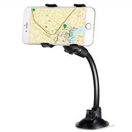 Canada Support de téléphone de voiture à long bras de serrage avec double clip solide support de téléphone cellulaire à ventouse pour iPhone 8 X 7 Samsung S8 gros cheap clamp mount arm Offre