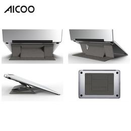 Aicoo 2019 Универсальный Невидимый Подставка для Ноутбука Регулируемый Складной Держатель Плавно Крепление для Ноутбука Macbook Pro Desktop OPP от