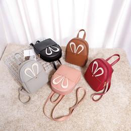 женские футляры для мобильных телефонов Скидка 2019 Women's Backpacks Purses Rabbit Cell Phone Case Mobile Bag Pouch Mini Shoulder Messenger Packs Cute Ladies Fashion Bags New