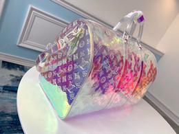 moldura interna da mochila de viagem Desconto Saco colorido da bagagem bolsa de viagem a laser mulheres senhora totes saco de duffle verão praia ginásio casual bolsas de festa FFA1938