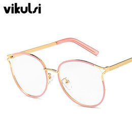 55974e9c4efa ladies optical Coupons - 2019 Ladies Cat Eye Glasses Frames For Women Metal  Frame Clear Glasses