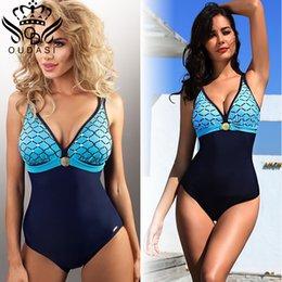 311686c59c18e New Arrival Plus Size One Piece Swimsuit Deep V Swimwear Women Vintage  Monokini Bathing Suit Women Summer Beach Wear 5xl Y19042203
