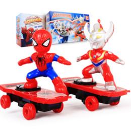 2019 rennbatteriebox 8 Modelle neue RC Skateboard Spiderman Scooter Fall nie echt Licht-Ton-Spielzeug Flash-kühle elektrische Spielwaren für Kinder Geschenke Down-RC Skate
