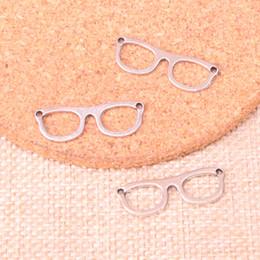 Deutschland 133 stücke Charme brille sonnenbrille Antikes Silber Überzogene Anhänger Fit Schmuck, Die Entdeckungen Zubehör 29 * 10mm supplier glasses findings Versorgung