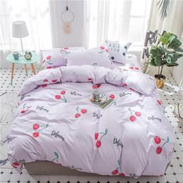 fogli di regali di rosa Sconti Fashion Roses 3D Pittura a olio Letto in una borsa Set di biancheria da letto 4 pezzi Set di lenzuola trapunte da letto trapunte da letto king size