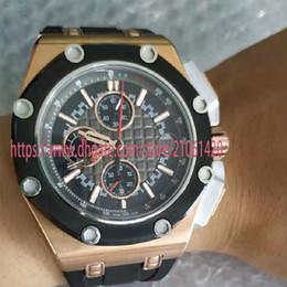 Высококачественные роскошные часы ROYAL OAK Series 18-каратного розового золота 44 мм Многофункциональный хронограф Кварцевый Movenent Limited Edition Мужские часы Наручные часы cheap high end mens watches от Поставщики мужские наручные часы