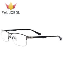 Miopia di alta qualità telaio occhiali uomini titanio lega semi occhiali da vista senza montatura telaio ottico rettangolo occhiali da