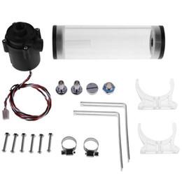 Canada G1 / 4 pouce Fil Xhc8 + 160 Mm Cylindre Ordinateur Réservoir D'eau 12 V 19 W Pc Refroidissement Par L'eau Sc600 Pompe Radiateur Waterblock Support Kit Kit Fo cheap air cylinder kits Offre