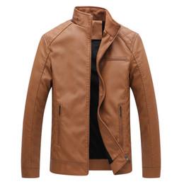 chaqueta de cuero 6xl Rebajas Diseñador para hombre PU chaquetas de cuero para hombre abrigos de piel sintética Grueso caliente chaquetas de alta calidad delgado Casual Streetwear Vintage para hombre abrigo tamaño L-6XL