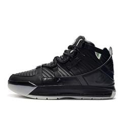 Botas de piel de serpiente baratas online-Baratos nuevos zapatos de baloncesto lebron 16 Piel de serpiente Resplandor negro en oro blanco oscuro Clásico corte alto para niños lebrons 3 zapatillas de deporte botas con caja