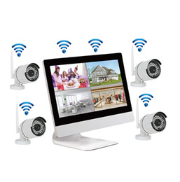 Réseau de système de surveillance sans fil 10,1 pouces Moniteur LCD Enregistreur NVR Kit Wifi 4CH 720P HD Vidéo entrées Caméra de sécurité avec 1 To disque dur ? partir de fabricateur