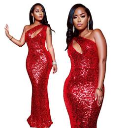 2019 marcas americanas vestidos de noite 2019 lantejoulas vermelhas bainha vestidos sexy mangas bainha tribunal trem comprimento vestidos de baile vestidos de noite vestido de dama de honra vestido de baile