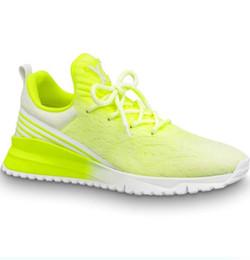 Homens de marca Colorido Fita de Malha Lace-up Sneaker Moda Boy Efeito Brilhante Sola De Borracha Esportes Sapatos Respirável Com Caixa de